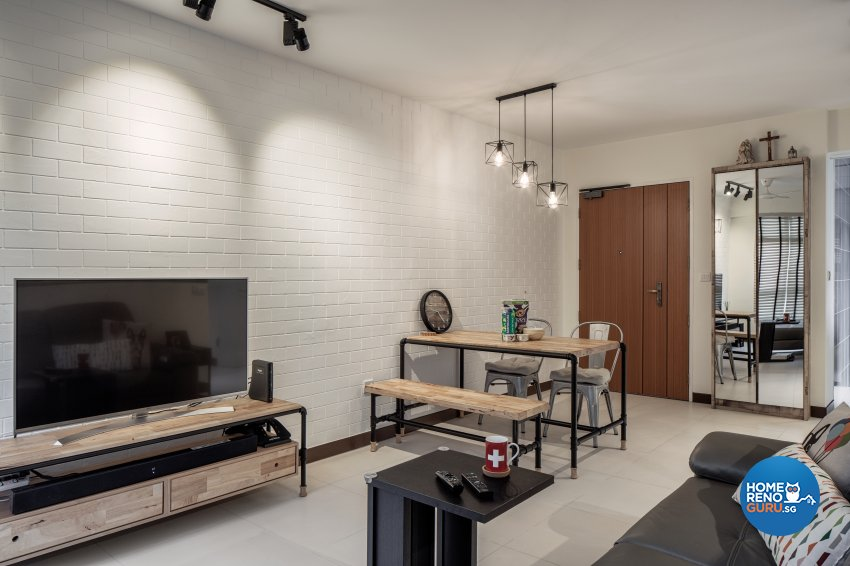 Industrial, Others, Scandinavian Design - Living Room - HDB 4 Room - Design by Zenith Arc Pte Ltd