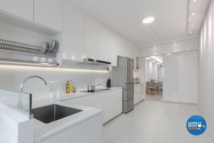 Contemporary, Minimalist, Modern Design - Kitchen - HDB 4 Room - Design by Zenith Arc Pte Ltd