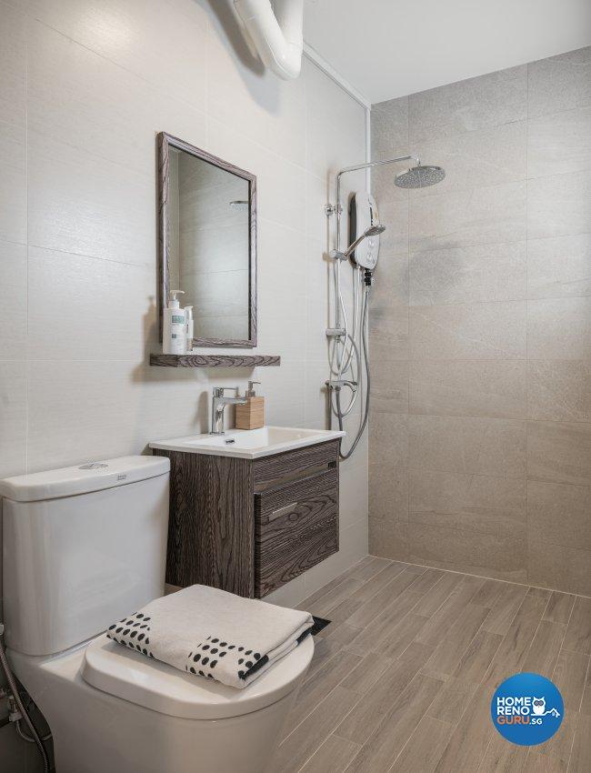 Contemporary, Minimalist, Modern Design - Bathroom - HDB 4 Room - Design by Zenith Arc Pte Ltd