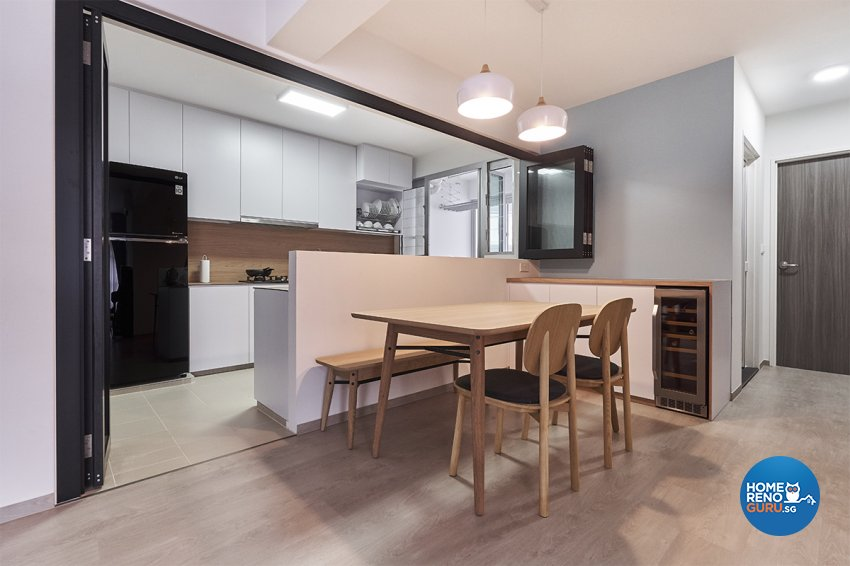 Minimalist, Modern, Scandinavian Design - Dining Room - HDB 5 Room - Design by Zenith Arc Pte Ltd