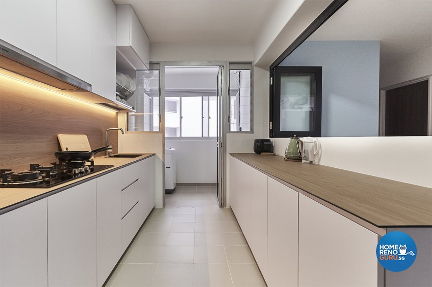 Minimalist, Modern, Scandinavian Design - Kitchen - HDB 5 Room - Design by Zenith Arc Pte Ltd
