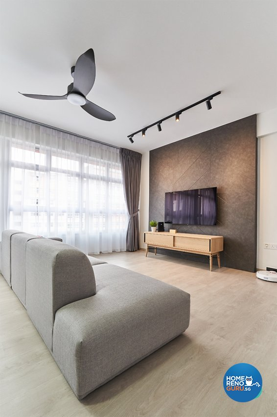 Minimalist, Modern, Scandinavian Design - Living Room - HDB 5 Room - Design by Zenith Arc Pte Ltd