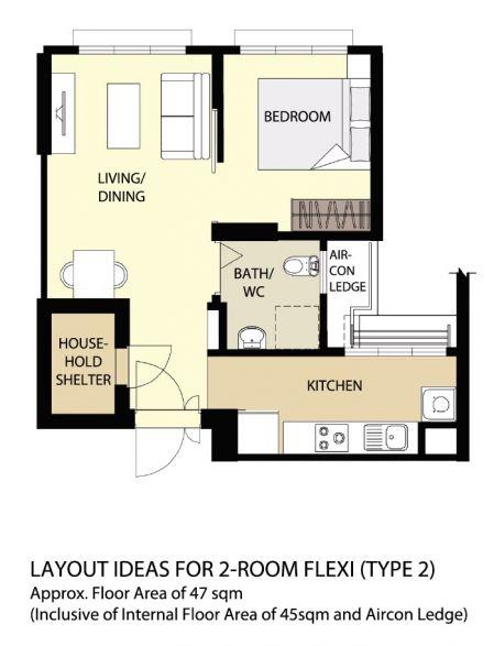 Hdb Two Room Bto 47: HomeRenoGuru