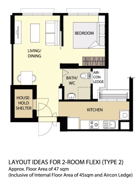 Coastal Design 2 Room Bto Flat: HomeRenoGuru