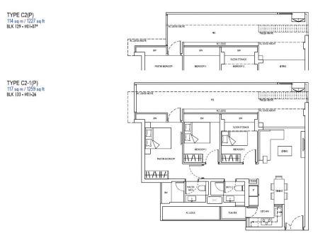 3 bedroom type c2p